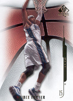 2008-09 SP Authentic #30 Vince Carter