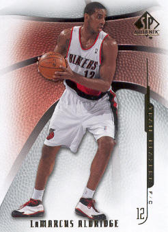 2008-09 SP Authentic #40 LaMarcus Aldridge
