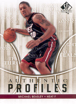 2008-09 SP Authentic Profiles #AP47 Michael Beasley