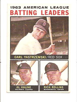 1964 Topps #8 AL Batting Leaders/Carl Yastrzemski/Al Kaline/Rich Rollins
