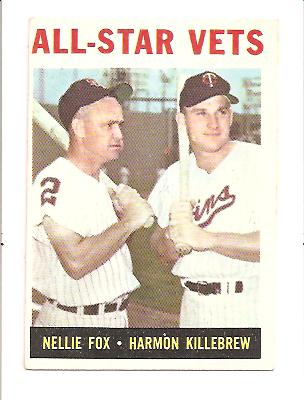 1964 Topps #81 All-Star Vets/Nellie Fox/Harmon Killebrew
