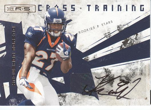 2009 Donruss Rookies and Stars Crosstraining Autographs #27 Knowshon Moreno/10