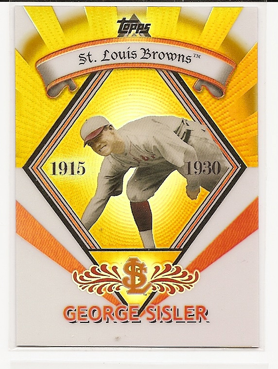 2009 Topps Legends Chrome Target Cereal Gold Refractors #GR20 George Sisler