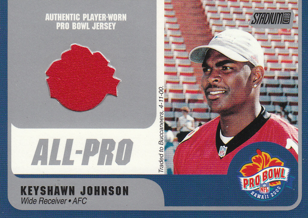 2000 Stadium Club Pro Bowl Jerseys #KJWR Keyshawn Johnson