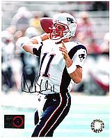 DREW BLEDSOE autographed ( signed ) color 8x10 picture