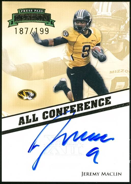 2009 Press Pass Legends All Conference Autographs #ACJM Jeremy Maclin/199