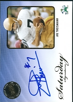 2009 Press Pass Legends Saturday Signatures #SSJT Joe Theismann