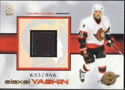 2000-01 Crown Royale Game-Worn Jerseys #18, Alexei Yashin /946