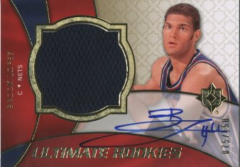 2008-09 Ultimate Collection #126 Brook Lopez JSY AU RC