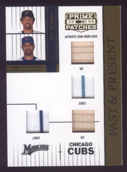 2005 Prime Patches Past and Present Double Swatch Combo #13 Derrek Lee B-B-J-J/150