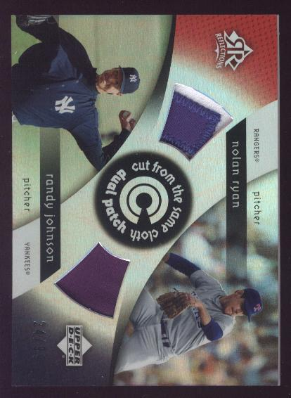 2005 Reflections Cut From the Same Cloth Dual Patch #RJ Nolan Ryan/Randy Johnson