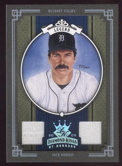 2005 Diamond Kings Materials Framed Green Platinum #286 Jack Morris Jsy-Jsy