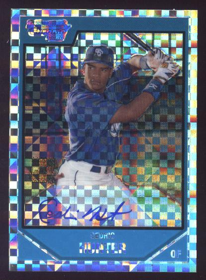 2007 Bowman Chrome Prospects X-Fractors #BC255 Cedric Hunter AU