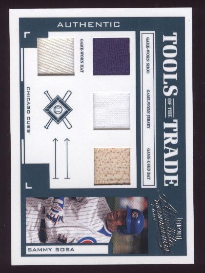 2004 Absolute Memorabilia Tools of the Trade Material Quad #132 Sammy Sosa H/50