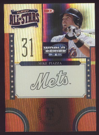 2004 Donruss World Series Playoff All-Stars HoloFoil #5 Mike Piazza