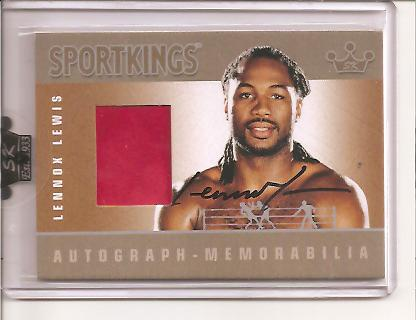 2009 Sportkings Autograph Memorabilia Silver #LL2 Lennox Lewis Shorts/20*