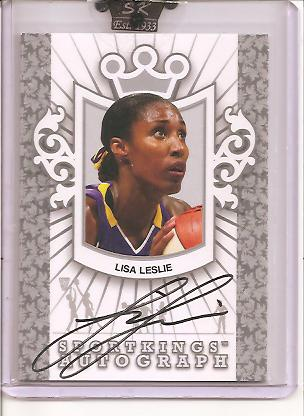 2009 Sportkings Autograph Silver #LLE2 Lisa Leslie/40* front image