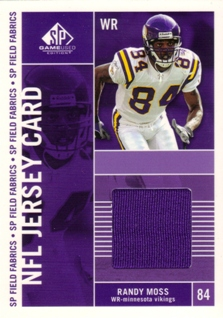 2003 SP Game Used Edition Field Fabrics #RM Randy Moss