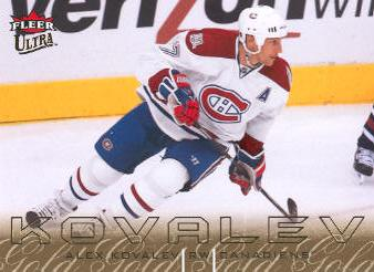 2009-10 Ultra Gold Medallion #179 Alex Kovalev