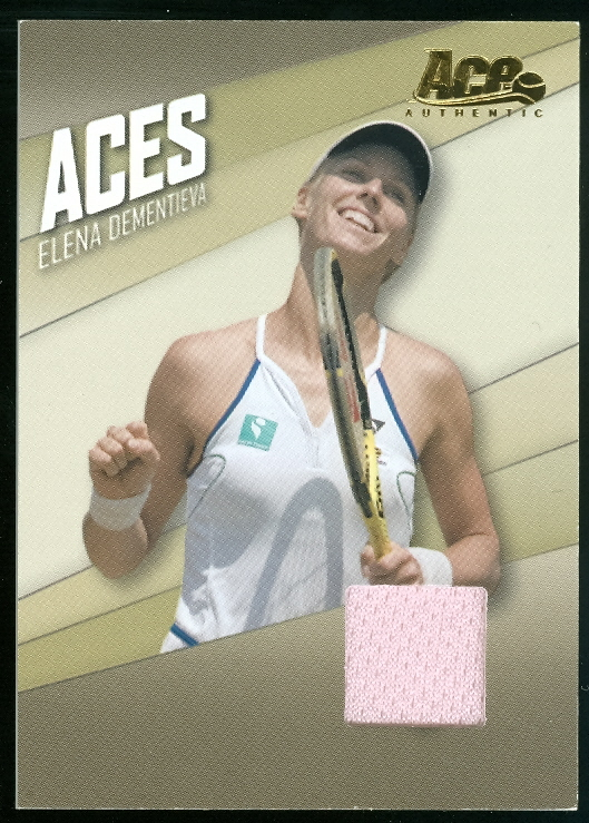 2007 Ace Authentic Straight Sets Aces Materials #AC9 Elena Dementieva