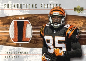 2004 Upper Deck Foundations Patches #FPCJ Chad Johnson