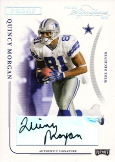 2004 Playoff Prime Signatures Signature Proofs Silver #26 Quincy Morgan/81
