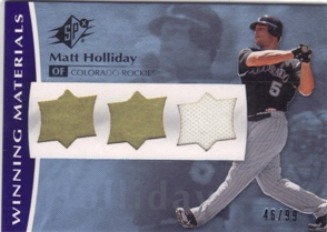 2008 SPx Winning Materials UD Logo #MH Matt Holliday