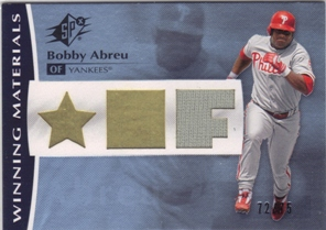 2008 SPx Winning Materials Position 75 #BA Bobby Abreu