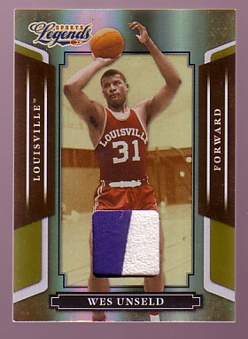 2008 Donruss Sports Legends Materials Mirror Gold #86 Wes Unseld/25