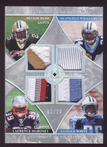 2006 Ultimate Collection Jerseys Quad Patch #BMWW Reggie Bush/Laurence Maroney/DeAngelo Williams/LenDale White