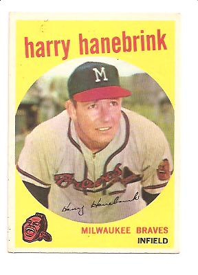 1959 Topps #322A Harry Hanebrink (with Traded Line)