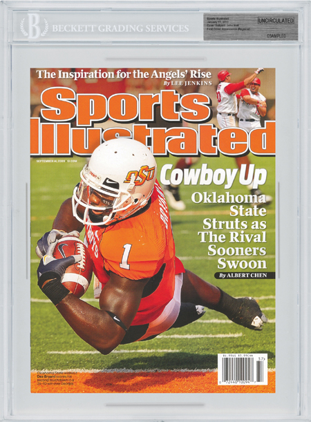 SPORTS ILLUSTRATED BGS Uncirculated DEZ BRYANT First Cover OSU front image