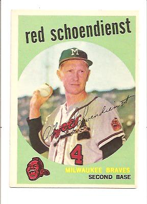 1959 Topps #480 Red Schoendienst front image