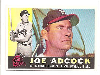 1960 Topps #3 Joe Adcock