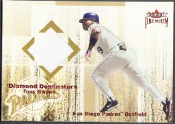 2001 Fleer Premium Diamond Dominators Jersey Tony Gwynn