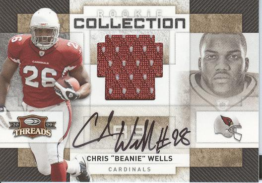 2009 Donruss Threads Rookie Collection Materials Autographs #3 Chris Wells