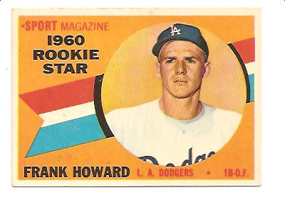 1960 Topps #132 Frank Howard RS RC