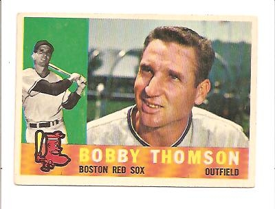 1960 Topps #153 Bobby Thomson