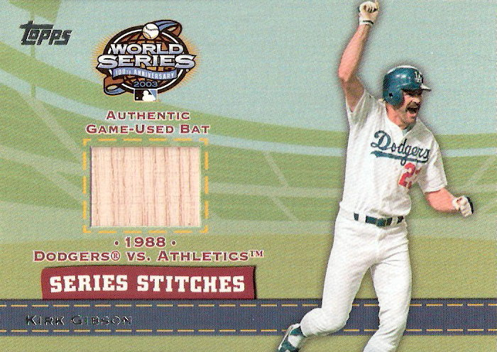 2004 Topps Series Stitches Relics #KG Kirk Gibson Bat B