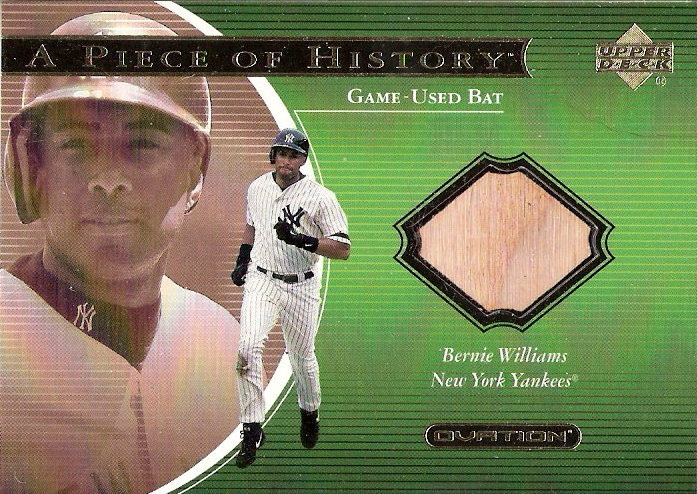 2001 Upper Deck Ovation A Piece of History #BW Bernie Williams