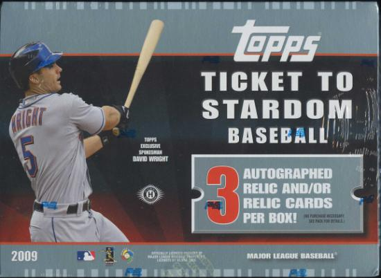 2009 Topps Ticket to Stardom MLB Baseball Sports Trading Cards Hobby Box