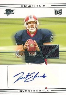 2007 Topps Performance Rookie Autographed Relics #101 Trent Edwards D