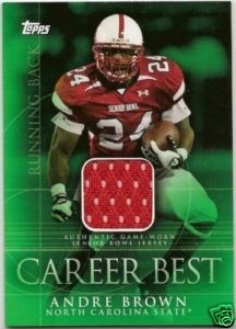 2009 Topps Career Best Jerseys #AB2 Andre Brown B