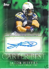 2009 Topps Career Best Autographs #JH Jacob Hester C