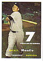 2007 Topps Target Factory Set Mantle Memorabilia #MMR57 Mickey Mantle 57T