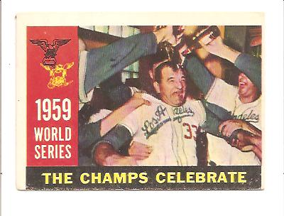 1960 Topps #391 World Series Summary/The Champs Celebrate