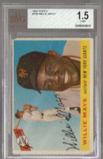 1955 Topps #194 Willie Mays BGS 1.5! NICE!