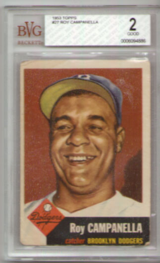 1953 Topps #27 Roy Campanella BVG Good 2! DODGERS!