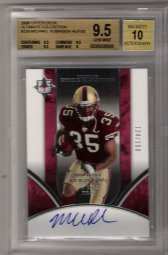 2006 Upper Deck Ultimate Collection #229 Michael Robinson ROOKIE Autograph #124/150 BGS GEM MINT 9.5! BGS PRISTINE 10 AUTOGRAPH!