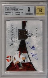 2006 Upper Deck Ultimate Collection Ultimate Signature Jersey #ULTCF Charlie Frye BGS MINT 9! BGS Pristine 10 Autograph!! #10/35! ROOKIE!